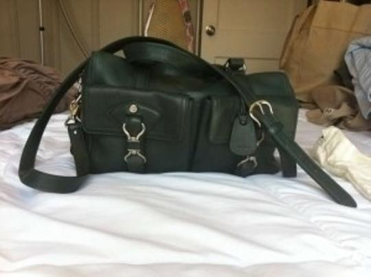 Cole Haan Leather Satchel in Hunter Green
