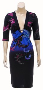 Roberto Cavalli short dress Blue/Multicolor on Tradesy