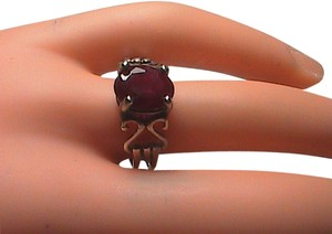 Vintage Ruby Sterling Silver Ring