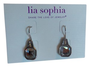 Lia Sophia Lia Sophia Privy Silver Earring with clear crystals