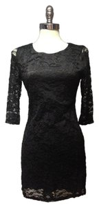 Forever 21 Lace Lbd Mini Black Cocktail Clubbing Couture Goth Dress