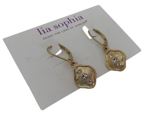 Lia Sophia Lia Sophia Delica Earrings matte gold with crystals