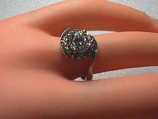 Vintage CZ Sterling Silver Band Ring