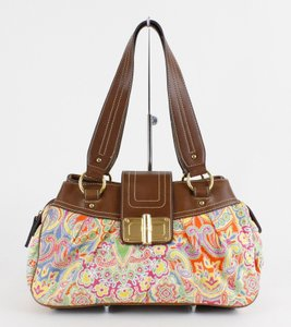Chaps Orange Paisley B98 Shoulder Bag