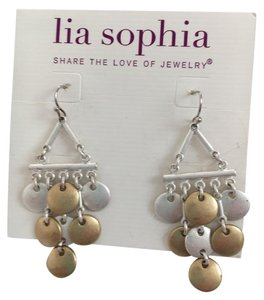 Lia Sophia Lia Sophia Earrings matte silver and gold