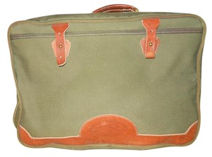 ORVIS Canvas Leather green & brown Travel Bag