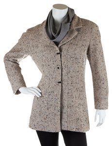 Chanel Women's Speckled Tweed Beige Jacket
