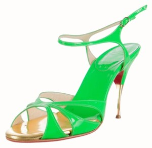 Christian Louboutin Cl Cl Summer Neon Green Sandals