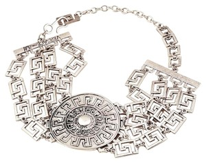 Versace SALE VERSACE FOR H&M Collection Silver Medallion Choker, Ltd Edition