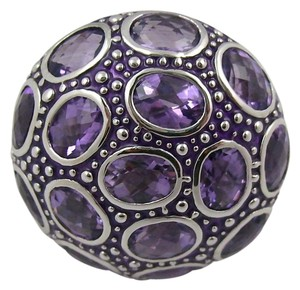 Sima K Sima K Amethyst Sterling Silver Enameled Ring - Size 8