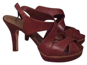 Antonio Melani Tan/brown leather Pumps