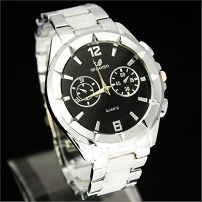 Item - Silver Stainless Steel Watch Free Shipping Men's Wedding Band