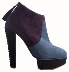 Charlotte Olympia Purple Zip Up Purple/Blue Boots