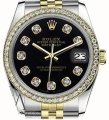 Rolex Womens 26mm Datejust Tone Black Color Dial With Diamonds Watch Image 0