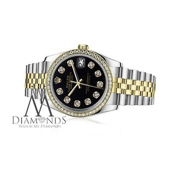 Rolex Womens 26mm Datejust Tone Black Color Dial With Diamonds Watch Image 1