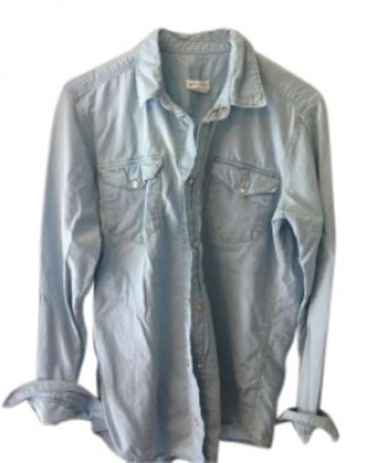 Preload https://item3.tradesy.com/images/h-and-m-denim-shirt-boyfriend-shirt-pearl-snaps-button-down-top-size-6-s-157757-0-0.jpg?width=400&height=650