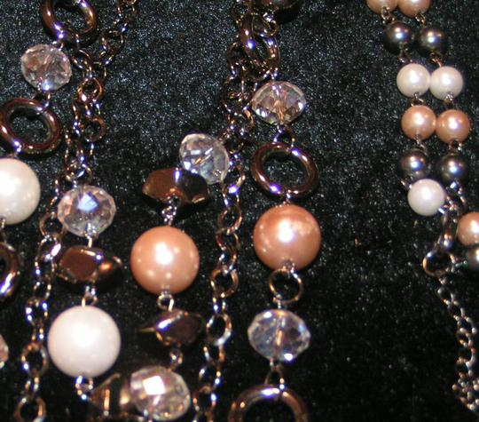 Long Layered Faux Pearl Necklace Free Shipping