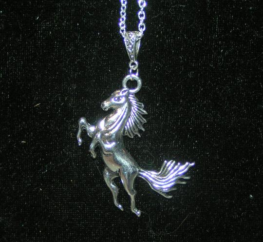 Silver Horse Necklace Free Shipping