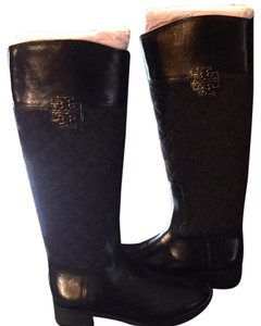Tory Burch Charcoal/Black (Pewter hardware) Boots