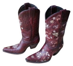 Lucchese Cowboy Cowgirl Cowboy Classics 1883 Oklahoma Gardenia Red Boots