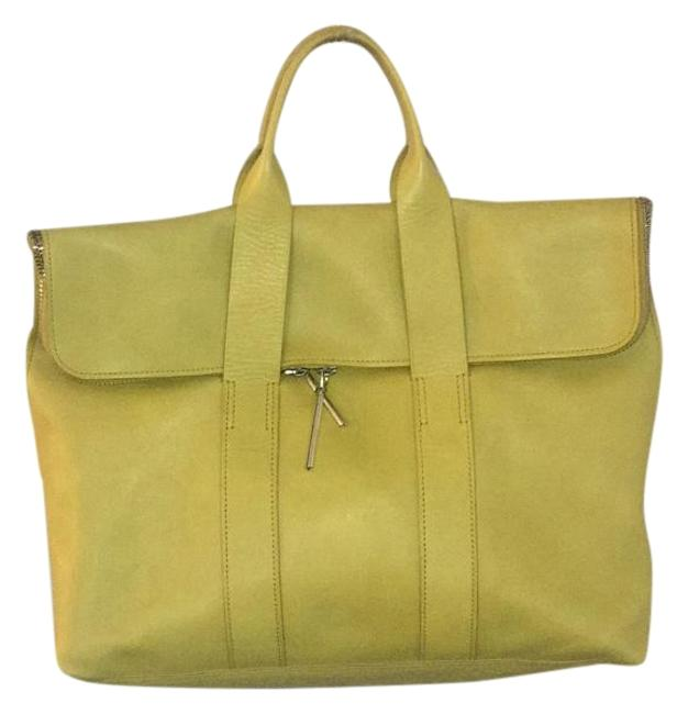 Item - 31 Hour Yellow Leather Tote
