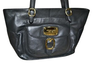 Michael Kors East West Leather Hudson Tote in Black
