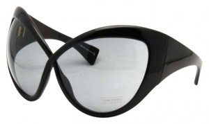Tom Ford Tom Ford Daphne Shiny Black Exaggerated Cate Eye Sunglasses