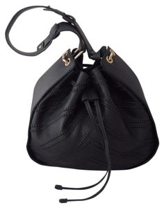 Vince Camuto Leather Bucket Tote in Black