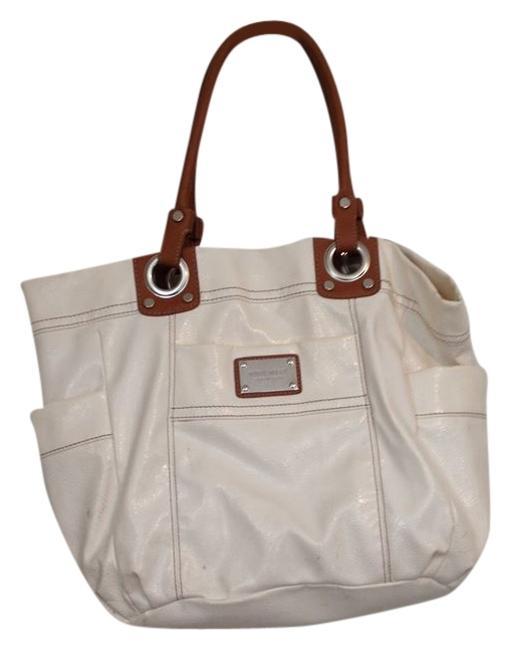 Item - White with Beige Tote