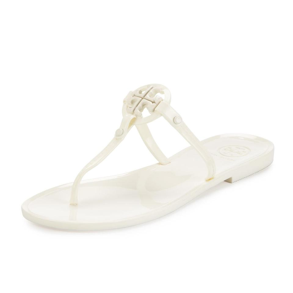 30f53d75ab Tory Burch Ivory Mini Miller Jelly Thong Sandals Size US 10 Regular ...
