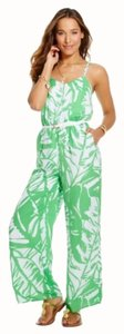 Lilly Pulitzer Jumpsuit Luxury Relaxed Pants Green And White
