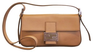 Fendi Leather Palladium Clutch Baguette