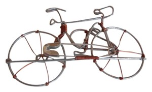 Recycled Wire Bike Pin