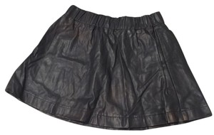 Lily White Mini Skirt Black