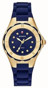 Michele NWT Jelly Bean Petite Gold Navy watch MWW12P000004