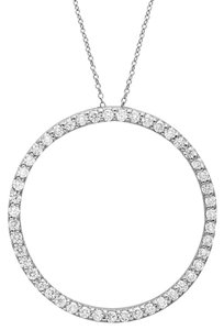 Avi and Co 1.00 cttw Round Brilliant Cut Diamond Circle of Life Pendant 14K White Gold