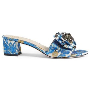 Tory Burch Flower Blue Sandals