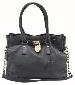 Michael Kors Hamilton Leather Tote in Blue