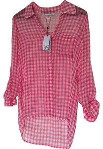 Diane von Furstenberg Top Pink/off white