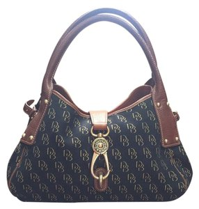 Dooney & Bourke Satchel in Black With Tan Laether