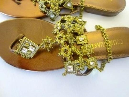 Colin Stuart Rinestone Metallic Gold Sandals