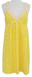 Tibi short dress Yellow on Tradesy