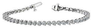 Avi and Co 3.00 cttw Round Brilliant Cut Three Prong Diamond Tennis Bracelet 14K White Gold