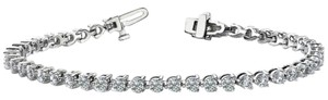 Avi and Co 2.00 cttw Round Brilliant Cut Three Prong Diamond Tennis Bracelet 14K White Gold