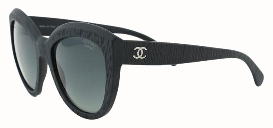 3a718ade23ee2 Chanel Chanel CH 5332 Authentic Women Sunglasses Polarized Black Mineral Tweed  Butterfly Signature Image 0 ...