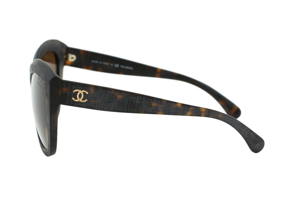 59b965bacc5 Chanel Chanel CH 5332 Authentic Women Sunglasses Polarized Brown Tortoise  Mineral Tweed Butterfly Signature Image 6. 1234567