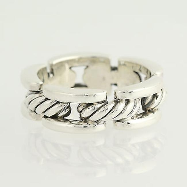 Item - Cable Band Ring - Sterling Silver Mens Designer