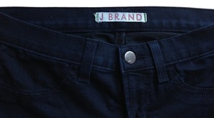 J Brand Denim Cropped Stretch Jeggings-Dark Rinse