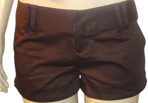 Space Girlz Chocolate Cuffed Wide Tab Shorts Brown, Dark Brown
