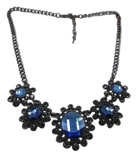 Blue Cobolt w Black PTD Stainless Steel 18-22in necklace w free shipping
